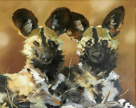Painted Dogs by Robert Teeling