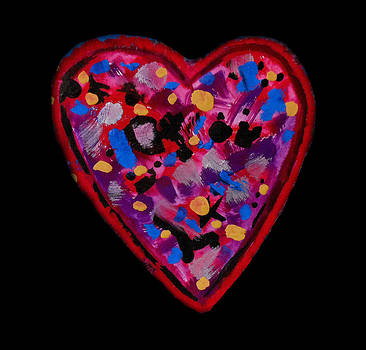 Painted Heart 2 by Christine Perry