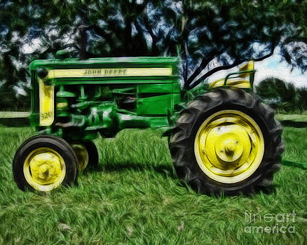 Painted John Deere by Cheryl Young