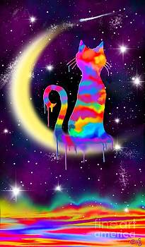 Nick Gustafson - Painted Moon Cat
