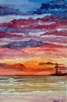 Painted Sky Over Ocean by Gerry Smith