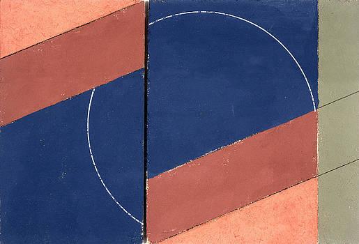 George Dannatt - Painting - Interrupted Circle, 2000 Oil On Board