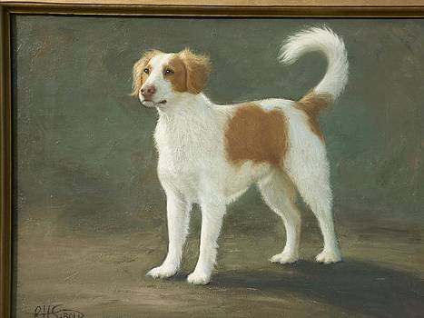 Painting Of Dog-buddy by Robert H Sibold