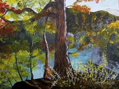 Judy Via-Wolff - Painting of Tree Of Golden Light