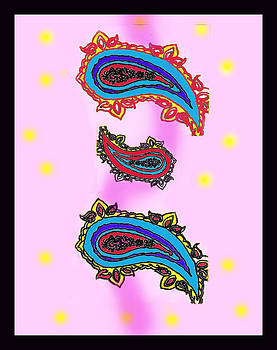 Paisley Design 3 by Christine Perry