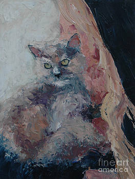 Palette knife Cat by Pet Whimsy  Portraits