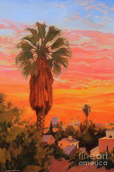 Palm and the city by Andrew Danielsen