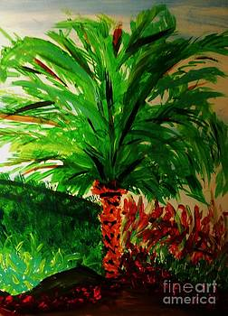 Palm Tree in the Garden by Marie Bulger