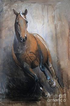 Palomino Run by Dorota Kudyba