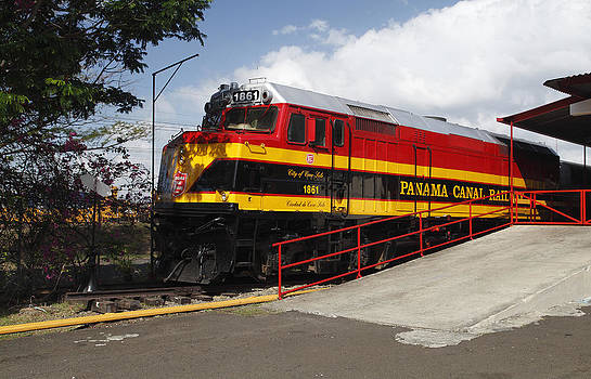 Panama Canal Railway Train by Norman Pogson
