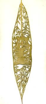 Alfred Ng - panda on a bamboo leaf