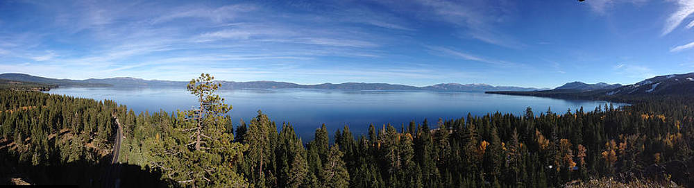 Panorama Lake Tahoe Eagle Rock by Heather Lavoie