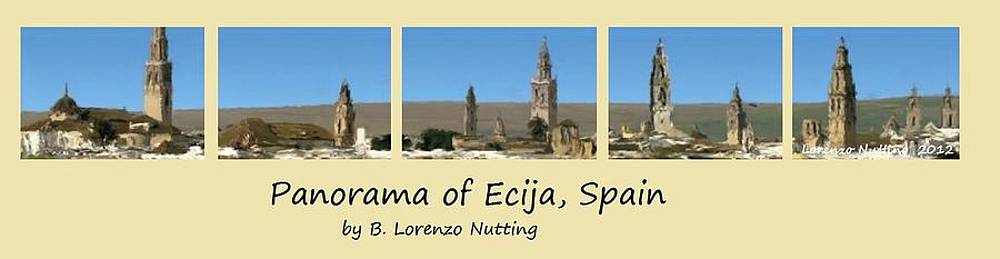 Panorama of Ecija Spain by Bruce Nutting