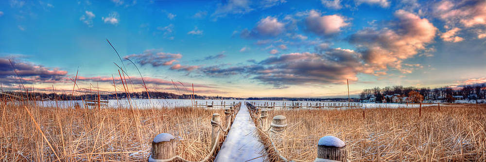 Panoramic Crooked Lake by Jenny Ellen Photography