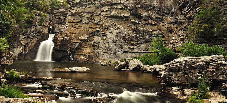 Panoramic Linville Falls by Adam Paashaus