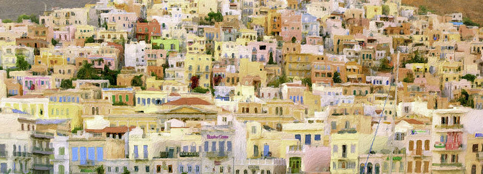 Panoramic Syros by F Icarus