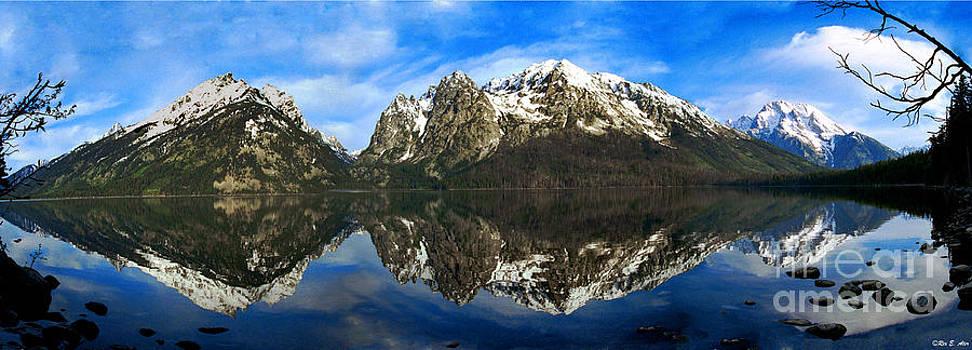 Panoramic Tetons by Rex E Ater