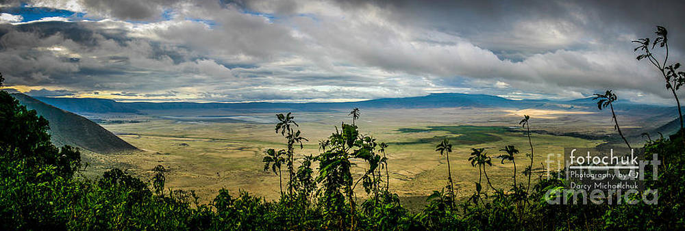 Darcy Michaelchuk - Panoramic View of Ngorongoro Crater