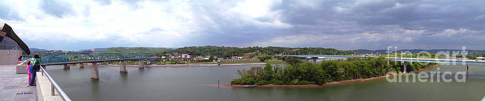 Panoramic view of north shore Chattanooga Tennessee by   Joe Beasley