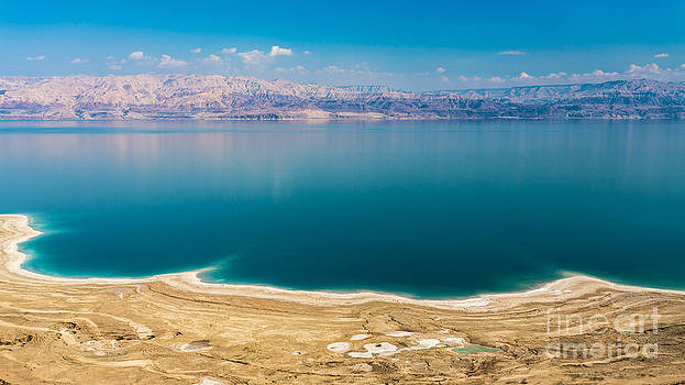 Panoramic View of the Dead Sea by Jacki Soikis