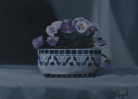 Pansies in a bowl by Nick Froyd
