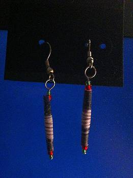 Paper Bead Earrings  by Kimberly Johnson
