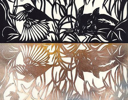 Alfred Ng - paper cut with color