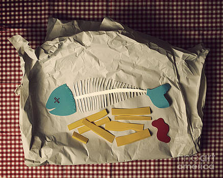 Paper fish and chips by Catherine MacBride