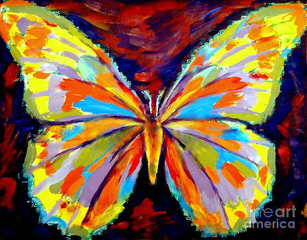 Papillon colore by Helena Wierzbicki