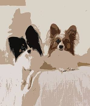 Papillon Dog Abstract by Olde Time  Mercantile