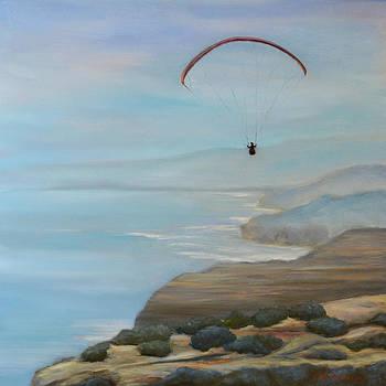 Paraglider over Torrey Pines by Jennifer Richards