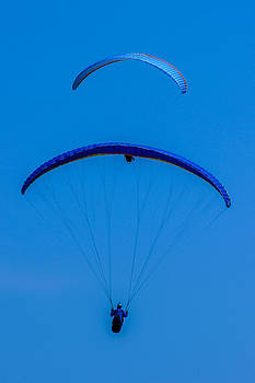 Paragliding in Blue by Fabio Giannini