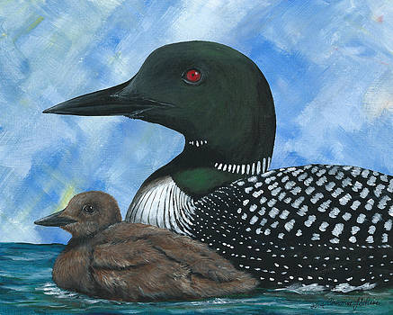 Loon and Young by Christine StPierre