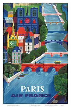 Paris Air France by Vintage