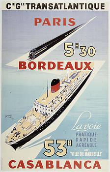 Paris Bordeaux Casablanca by Vintage Images