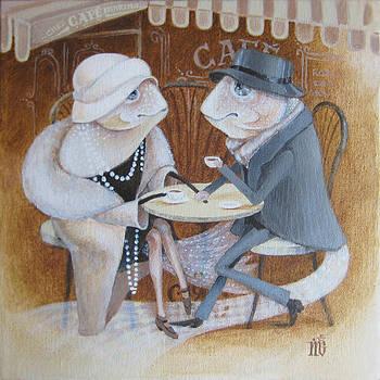 Paris Cafe by Marina Gnetetsky