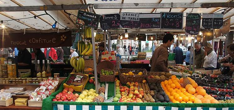 Paris Fruit Market by Kristine Bogdanovich