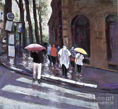 PARIS in the rain by Joyce A Guariglia