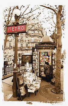 Paris Metro Stop by Michael Fahey