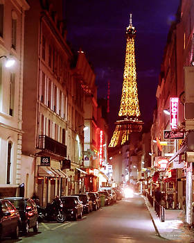 Paris Romantic Night Lights by Alex Khomoutov