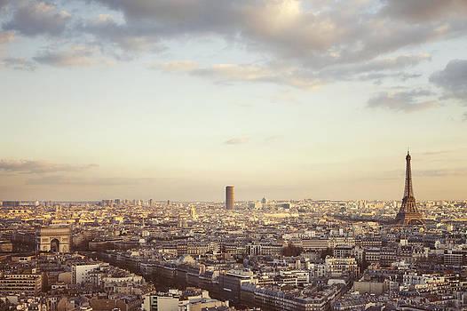 Paris Skyline at Sunrise by Irene Suchocki