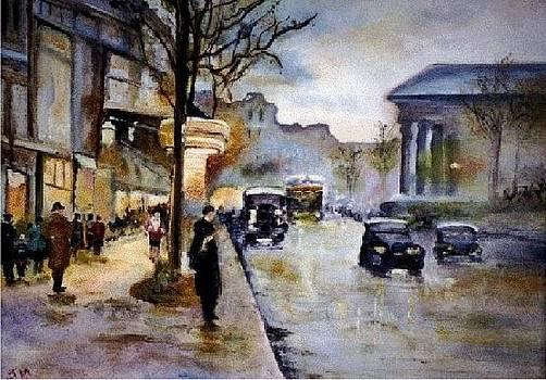 Paris Street Scene by Jeanette Foresta