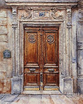 Parisian Door on Rue Lauriston by Joey Agbayani