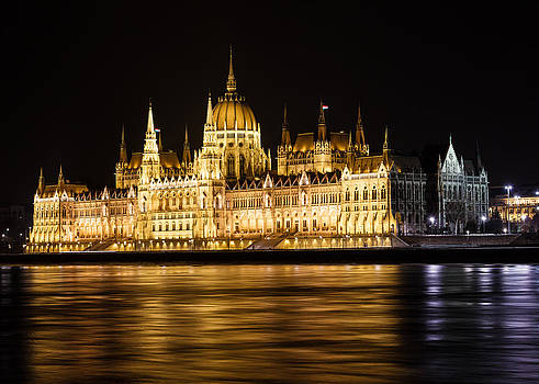 Parliament Building in Budapest by John Zocco