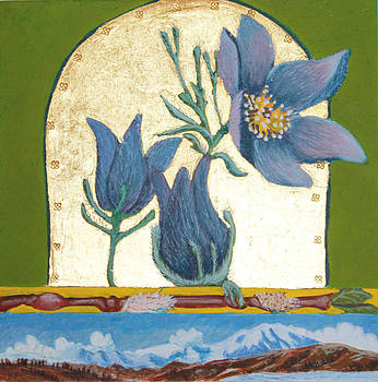 Pasque Flower in the Spring by Amy Reisland-Speer