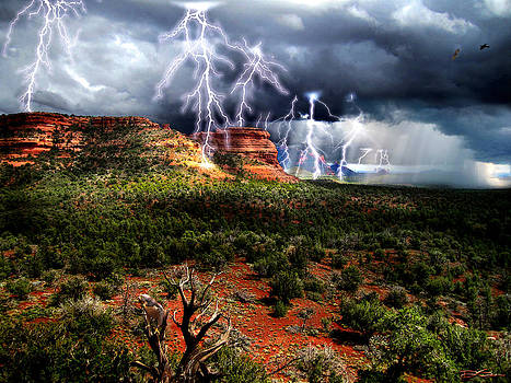 Passing Storm Near Sedona Arizona by Ric Soulen