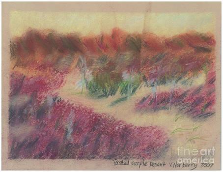 Pastel Purple Desert by Valerie VanOrden