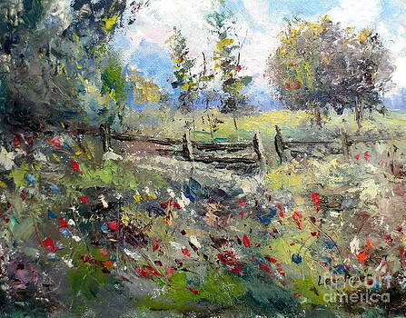 Pasture With Fence by Lee Piper