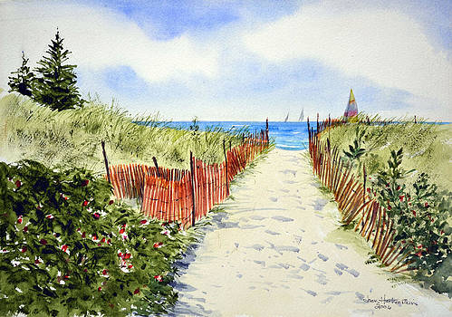 Path To East Beach-Watch Hill RI by Joan Hartenstein
