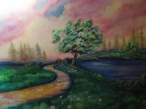 Path To Glory Panel 1 by Kendra Sorum